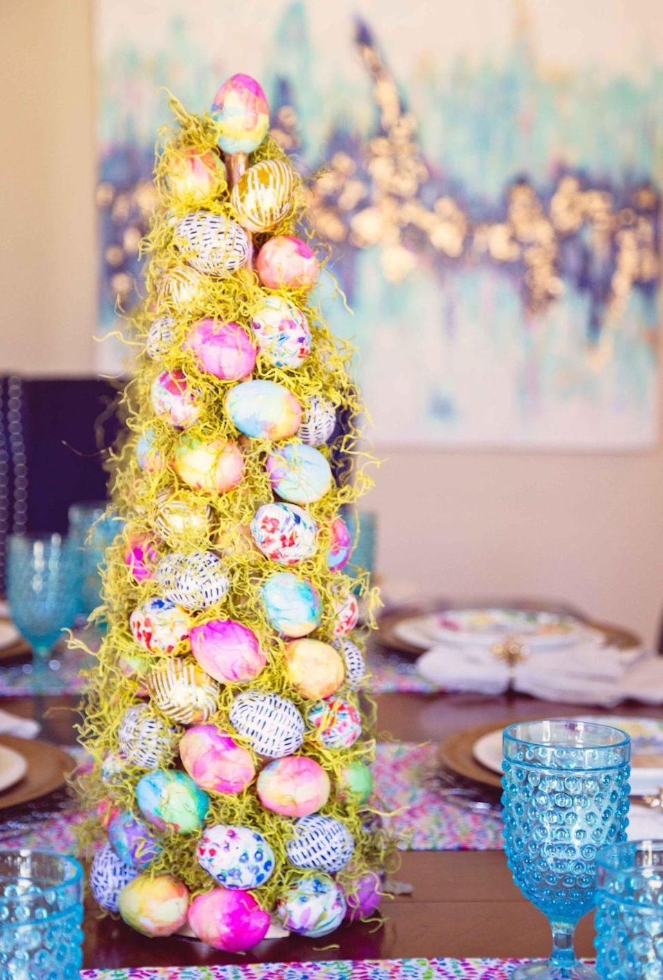 """<p>This happy tree may be time-consuming to make, but you'll use it for years to come! </p><p><strong>Get the tutorial at <a href=""""http://themajesticmama.com/make-beautiful-easter-tree/"""" rel=""""nofollow noopener"""" target=""""_blank"""" data-ylk=""""slk:The Majestic Mama"""" class=""""link rapid-noclick-resp"""">The Majestic Mama</a>.</strong></p>"""