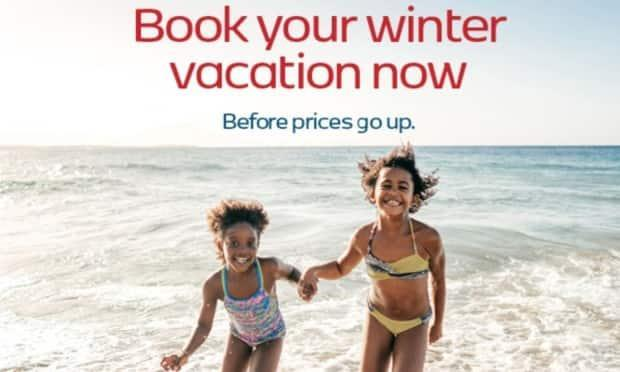 The online travel booking site redtag.ca urges travellers to seal the deal and book now for an upcoming vacation.