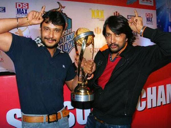Sudeep with Darshan
