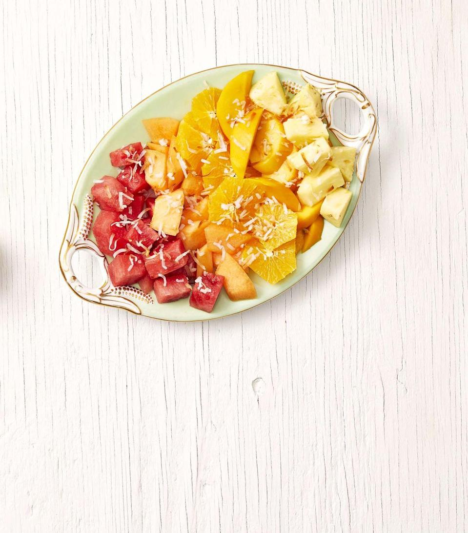 """<p>This bright and colorful medley of fruits is a perfect healthy addition to any weekday breakfast or holiday brunch. Try layering it in a mason jar with some plain Greek yogurt on the bottom for breakfast on the go. <br></p><p><strong><a href=""""https://www.thepioneerwoman.com/food-cooking/recipes/a33407285/sunrise-fruit-salad-recipe/"""" rel=""""nofollow noopener"""" target=""""_blank"""" data-ylk=""""slk:Get the recipe."""" class=""""link rapid-noclick-resp"""">Get the recipe.</a></strong></p><p><a class=""""link rapid-noclick-resp"""" href=""""https://www.thepioneerwoman.com/food-cooking/recipes/a33407285/sunrise-fruit-salad-recipe/"""" rel=""""nofollow noopener"""" target=""""_blank"""" data-ylk=""""slk:SHOP MASON JARS"""">SHOP MASON JARS</a><br></p>"""