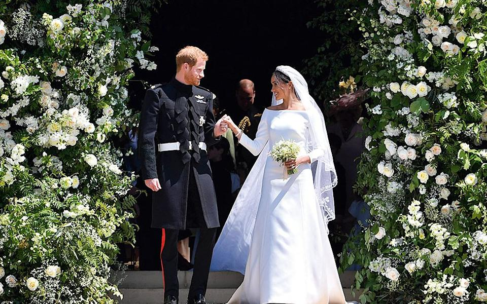 Meghan and Harry married in May 2018 - 2018 Getty Images