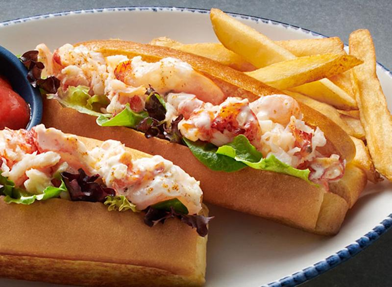 Petite chilled lobster and shrimp roll with fries