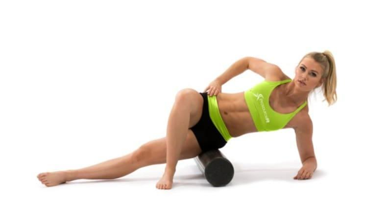 Foam rollers make recovery easy.