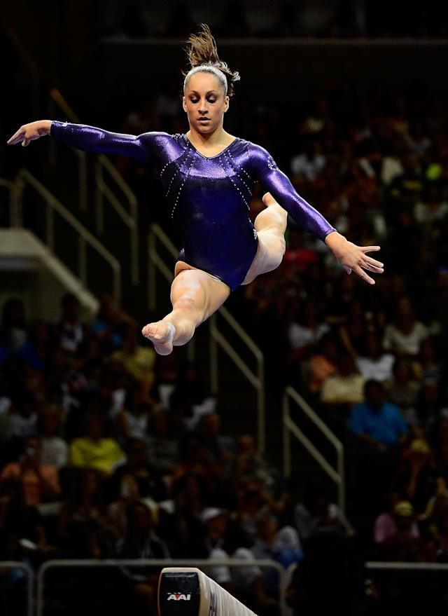 SAN JOSE, CA - JULY 01: Jordyn Wieber competes on the balance beam during day 4 of the 2012 U.S. Olympic Gymnastics Team Trials at HP Pavilion on July 1, 2012 in San Jose, California. (Photo by Ronald Martinez/Getty Images)