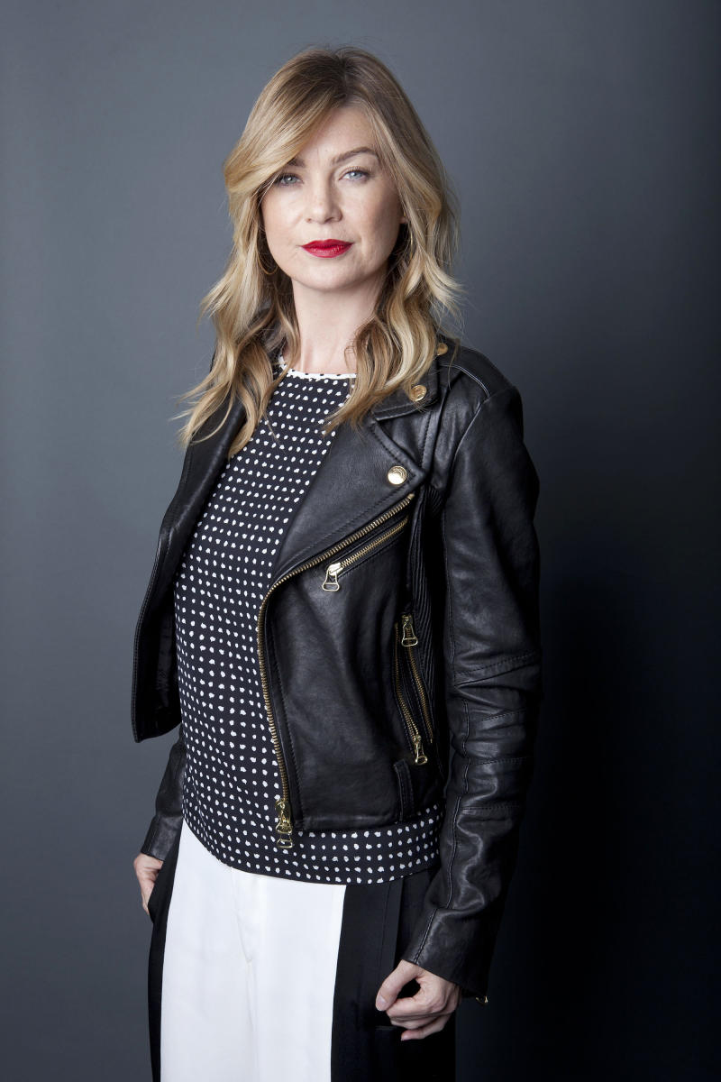 "Best known for playing the lead role, Meredith Grey, in the ABC Network drama series, ""Grey's Anatomy,"" American actress Ellen Pompeo poses for a portrait in celebration of the upcoming 200th episode, on Monday, Sept. 23, 2013, in New York. The tenth season premieres on Thursday. (Photo by Amy Sussman/Invision/AP)"