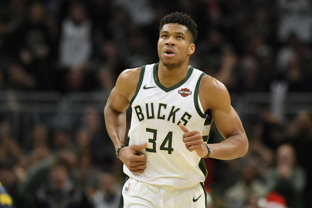 Imagine if Giannis had a consistent three-point shot? (Photo by Quinn Harris/Getty Images)