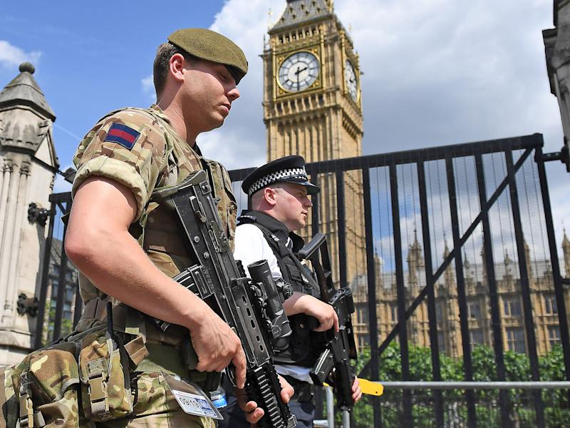 The starting salary of an army private has dropped by £1,000 in real terms since 2010, party says: AFP/Getty Images