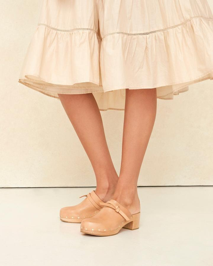 <p>If you're into the old-fashioned look, then you need the <span>Loeffler Randall Roberta Honey Low Clogs</span> ($350). The little bow tie is the perfect detail.</p>