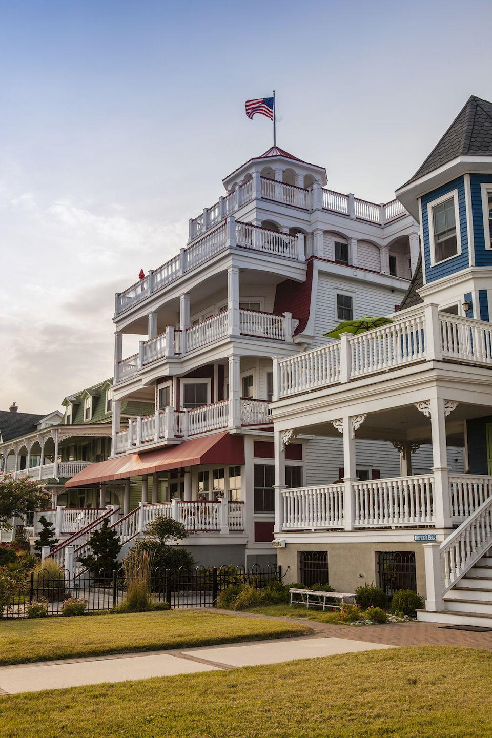 """<p>The southernmost beach town along New Jersey's shore, <a href=""""http://www.visitnj.org/city/cape-may"""" rel=""""nofollow noopener"""" target=""""_blank"""" data-ylk=""""slk:Cape May"""" class=""""link rapid-noclick-resp"""">Cape May</a> has a distinctly different feel than other towns: It's elegant yet offers a lot of options for a great night (or day) out. Tour the area vineyards, indulge in fine dining, or just enjoy the Victorian architecture while taking a stroll. </p><p><a href=""""https://www.housebeautiful.com/lifestyle/g4449/best-hotels-in-the-world/"""" rel=""""nofollow noopener"""" target=""""_blank"""" data-ylk=""""slk:See the Cape May hotel that's one of the best in the world »"""" class=""""link rapid-noclick-resp""""><em>See the Cape May hotel that's one of the best in the world »</em></a></p>"""