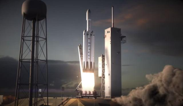 spacex falcon heavy launch date news render
