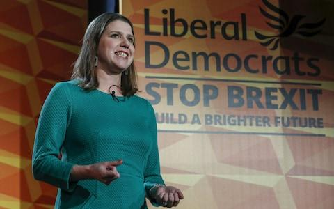 Jo Swinson, leader of the Liberal Democrats party, launched the party's general election manifesto on Wednesday - Credit: Luke MacGregor/Bloomberg