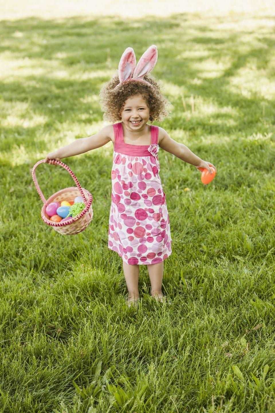 """<p>The first egg hunt can be traced back to <a href=""""https://www.cbsnews.com/news/happy-easter-whats-with-the-bunny-and-the-eggs/"""" rel=""""nofollow noopener"""" target=""""_blank"""" data-ylk=""""slk:Martin Luther"""" class=""""link rapid-noclick-resp"""">Martin Luther</a>, a central figure during the Protestant Reformation — men hid the eggs for women and children to find. The happy act of finding an Easter egg during the hunt is supposed to remind us of <a href=""""https://www.catholiccompany.com/getfed/mary-magdalene-first-easter-egg/"""" rel=""""nofollow noopener"""" target=""""_blank"""" data-ylk=""""slk:the joy that the women"""" class=""""link rapid-noclick-resp"""">the joy that the women</a> (believed to be Mary Magdalene, Mary mother of James, and Salome) felt when they came to Jesus's cave and found it empty.</p><p><strong>RELATED: </strong><a href=""""https://www.goodhousekeeping.com/holidays/easter-ideas/g4151/easter-egg-hunt-ideas/"""" rel=""""nofollow noopener"""" target=""""_blank"""" data-ylk=""""slk:Fun Easter Egg Hunt Ideas for the Whole Family"""" class=""""link rapid-noclick-resp"""">Fun Easter Egg Hunt Ideas for the Whole Family</a></p>"""