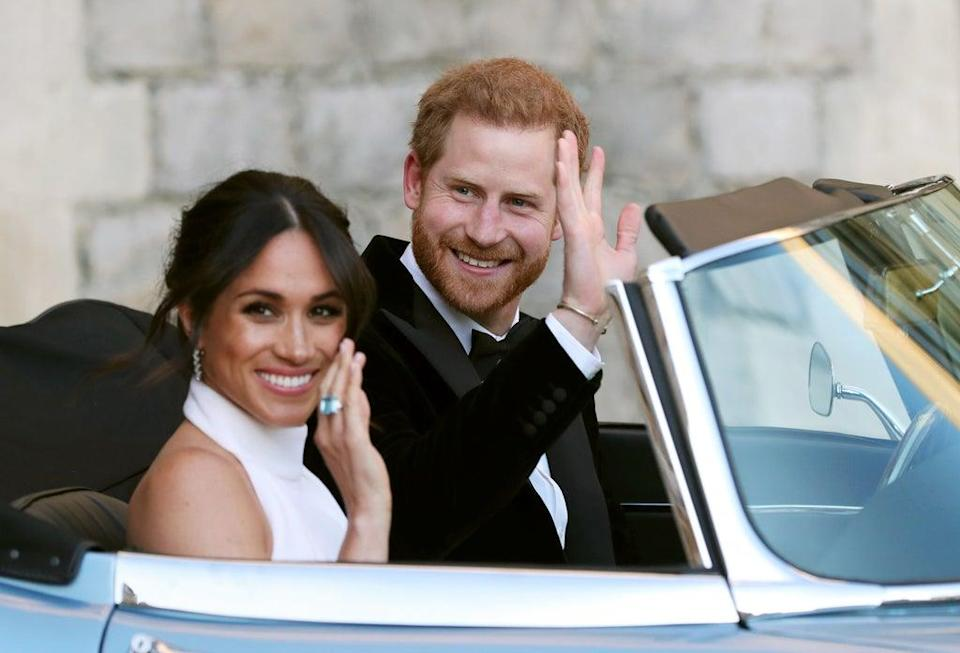 Harry and Meghan on their wedding day (Steve Parsons/PA) (PA Archive)