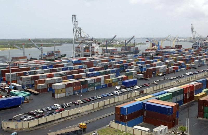 File photo of the Apapa Terminal full of containers in the main Nigerian seaport in Lagos (AFP Photo/Pius Utomi Ekpei)