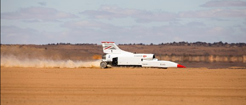 The car hit 334mph in tests (Bloodhound)