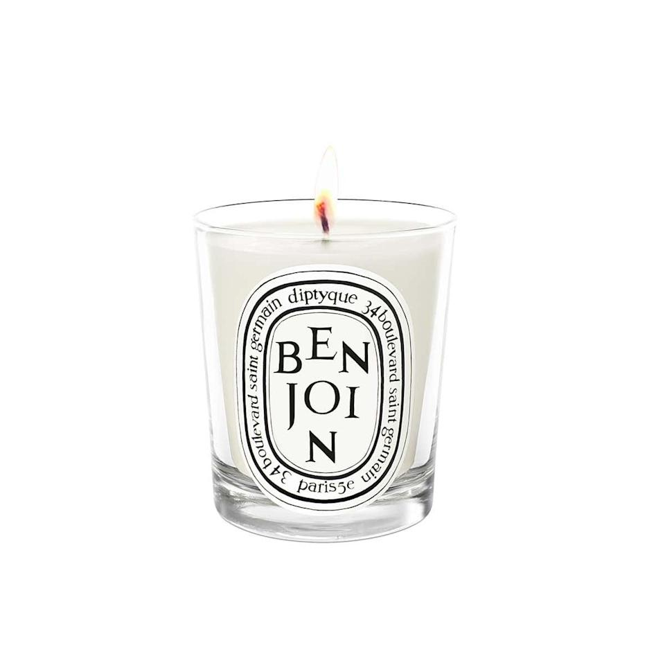 "My all-time favorite is <a href=""https://shop.nordstrom.com/s/diptyque-benjoin-scented-candle/4136883/lite"" rel=""nofollow"" target=""_blank"">Diptyque Benjoin</a>. It's impossible to describe the scent, but it's <em>so</em> warming. It's spicy but smooth, and if I had to choose one signature fall or winter candle for the home, this would be it! —<a href=""https://www.instagram.com/coco.kelley"" rel=""nofollow"" target=""_blank""><em>Cassandra Lavalle</em></a><em>, interiors blogger and founder of</em> <a href=""https://www.cocokelley.com/"" rel=""nofollow"" target=""_blank""><em>Coco Kelley</em></a> $65, Nordstrom. <a href=""https://shop.nordstrom.com/s/diptyque-benjoin-scented-candle/4136883/lite"">Get it now!</a>"