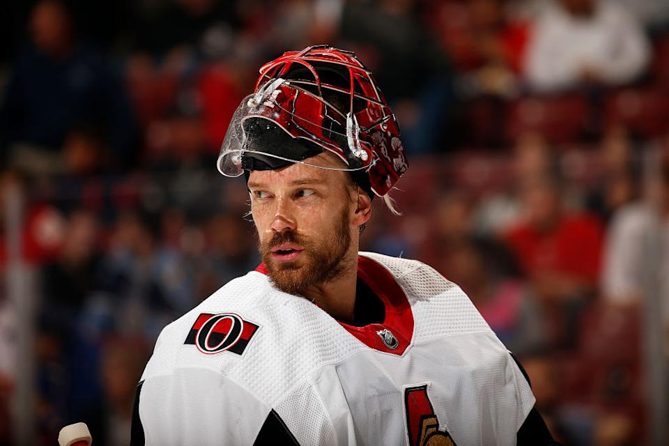 Recently retired NHL goaltender Anders Nilsson shared details of the horrible concussion symptoms that forced him to hang up the pads. (Getty)