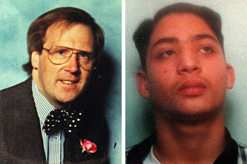 Knifed: Philip Lawrence (left) was stabbed to death by Learco Chindamo (right) PA