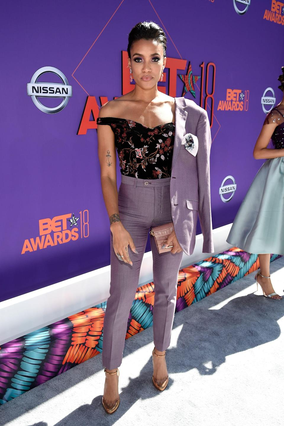 "<p>Everything about Annie Ilonzeh's lavender suit is perfection. Keep up the good work!</p><span class=""copyright"">Photo: Kevin Mazur/Getty Images.</span>"