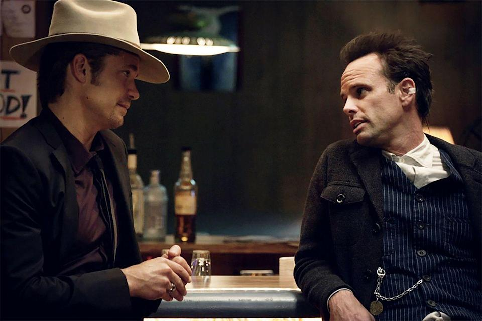 <p><strong><em>Justified</em><br><br></strong>One of the many crime-fighting dramas on this list, <em>Justified </em>stars Timothy Olyphant as a U.S. Marshal assigned to work in Eastern Kentucky. </p>