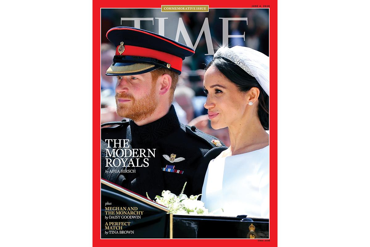 TIME's coverage of the British royal wedding spans decades. See the new cover, featuring Meghan Markle and Prince Harry on their wedding day.
