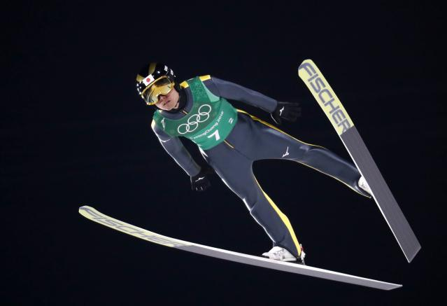 Ski Jumping - Pyeongchang 2018 Winter Olympics - Men's Team Trial round - Alpensia Ski Jumping Centre - Pyeongchang, South Korea - February 19, 2018 - Daiki Ito of Japan competes. REUTERS/Dominic Ebenbichler