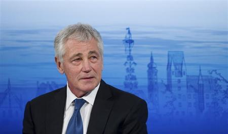 U.S. Defense Secretary Chuck Hagel attends at the annual Munich Security Conference