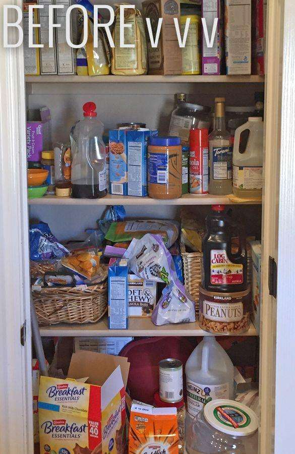 """<p>When food is stacked on top of each other you know that you need to make some changes in <a href=""""http://prettyprovidence.com/small-pantry-organization/"""" rel=""""nofollow noopener"""" target=""""_blank"""" data-ylk=""""slk:your pantry"""" class=""""link rapid-noclick-resp"""">your pantry</a>.</p>"""