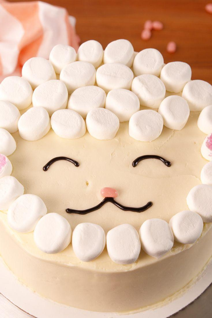 """<p>Don't be intimidated by the cuteness—this is the easiest Easter cake you'll ever make.</p><p>Get the <a href=""""https://www.delish.com/uk/cooking/recipes/a35402909/easy-lamb-cake-recipe/"""" rel=""""nofollow noopener"""" target=""""_blank"""" data-ylk=""""slk:Lamb Cake"""" class=""""link rapid-noclick-resp"""">Lamb Cake</a> recipe. </p>"""