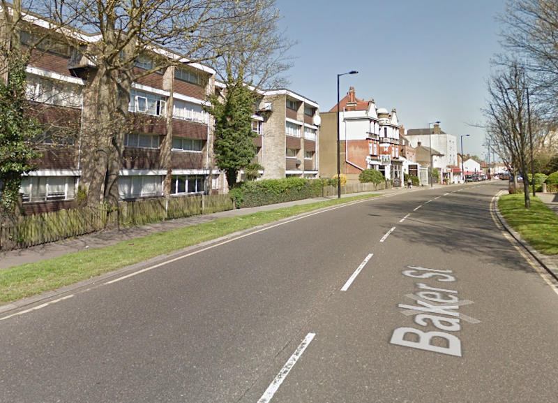 The Brazilian woman, who was in the UK on a six-month visa, approached the police after she was robbed at knifepoint along with other sex workers by a group of men on Baker Street in Enfield in the early hours of 24 June: Google Maps
