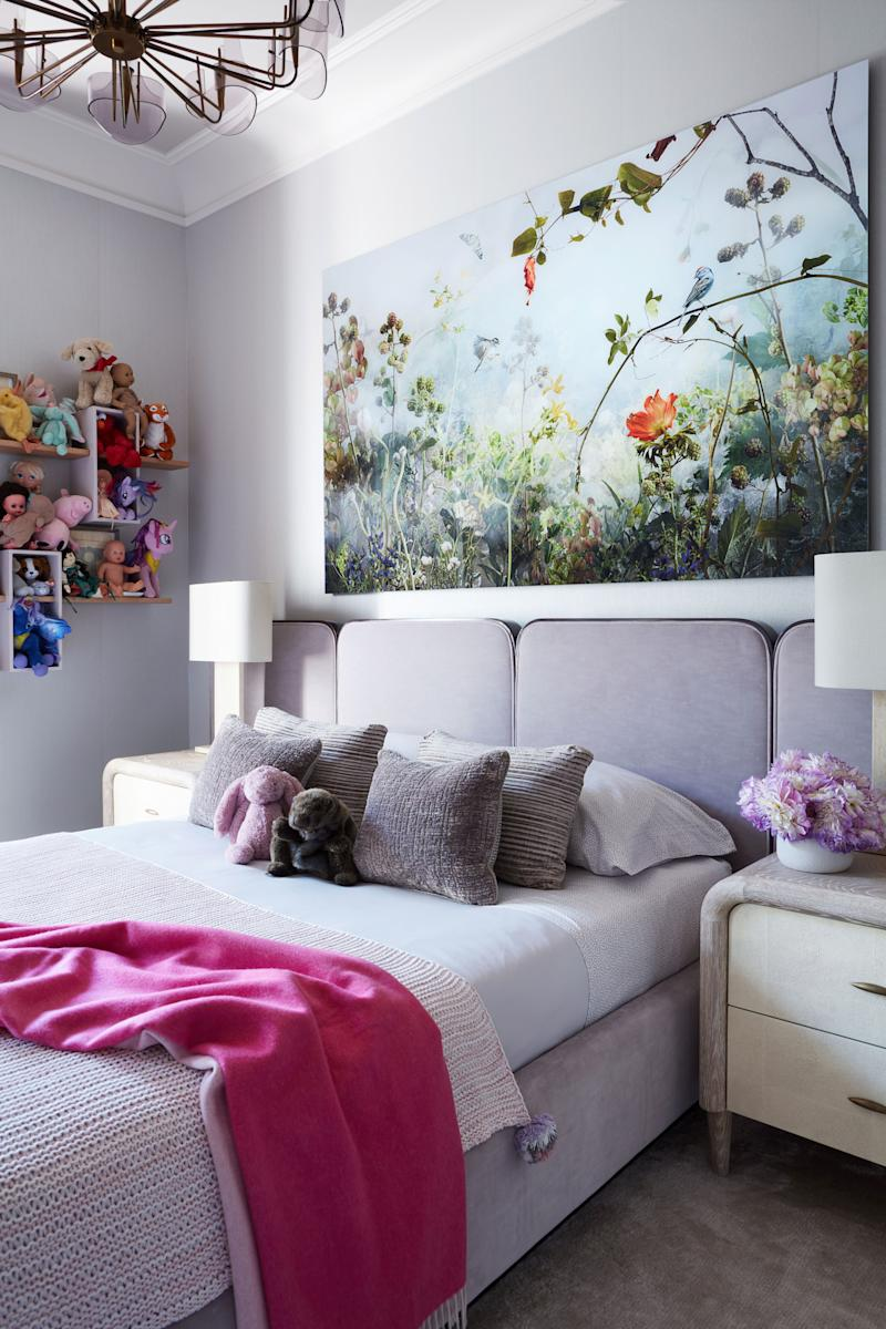Ada's room features an Ysabel Lemay photograph over the Bespoke bed in a Holly Hunt cotton.