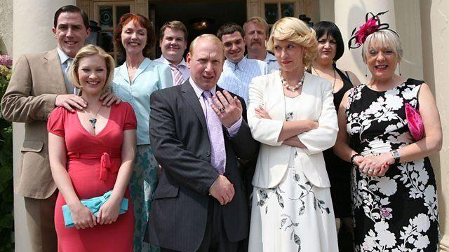 Pete and Dawn renew their vows in the third series of 'Gavin & Stacey'. (Credit: BBC)