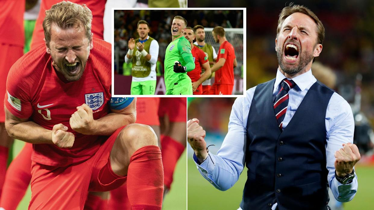 England finally won a World Cup penalty shootout to see of Colombia.