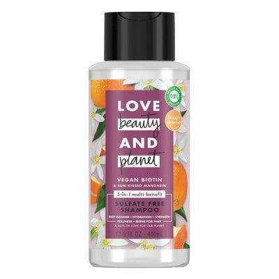 <p>The delicious, citrusy scent isn't the only thing to love about the <span>Love Beauty and Planet Vegan Biotin &amp; Sun Kissed Mandarin Shampoo</span> ($7). Its biotin-rich, multitasking formula hydrates and strengthens the hair while also leaving it with a healthy shine.</p>