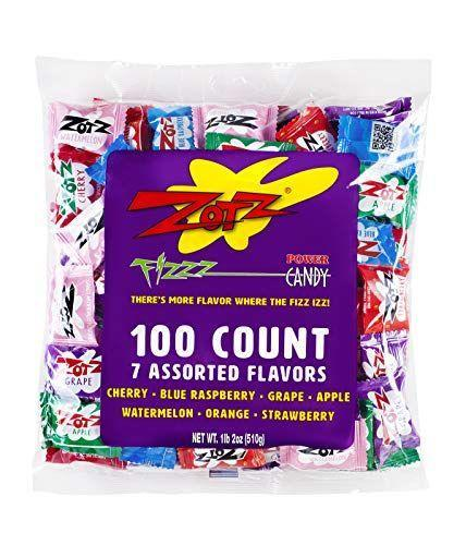 """<p><strong>Zotz Fizzy</strong></p><p>amazon.com</p><p><strong>$8.76</strong></p><p><a href=""""https://www.amazon.com/dp/B01B1G6ZEQ?tag=syn-yahoo-20&ascsubtag=%5Bartid%7C2141.g.34414052%5Bsrc%7Cyahoo-us"""" rel=""""nofollow noopener"""" target=""""_blank"""" data-ylk=""""slk:Shop Now"""" class=""""link rapid-noclick-resp"""">Shop Now</a></p><p>Remember fizzy, sour Zotz? It turns out they're vegan, too, so you don't have to feel bad about eating way too many of them. </p>"""