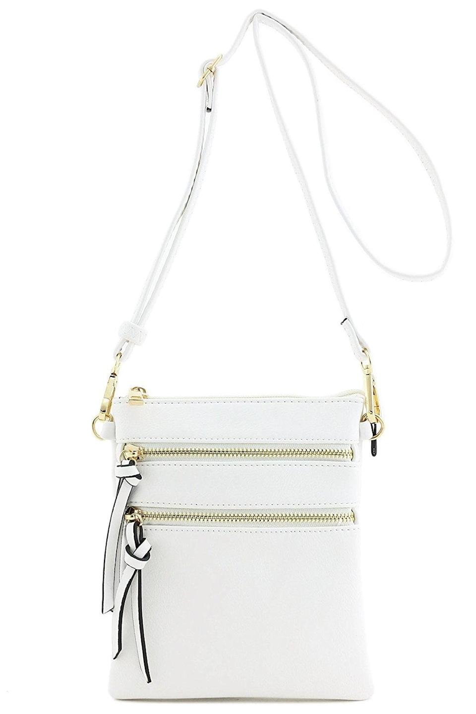 <p>This <span>Isabelle Multi-Pocket Crossbody Bag</span> ($15) has tons of amazing reviews, and we see why.</p>