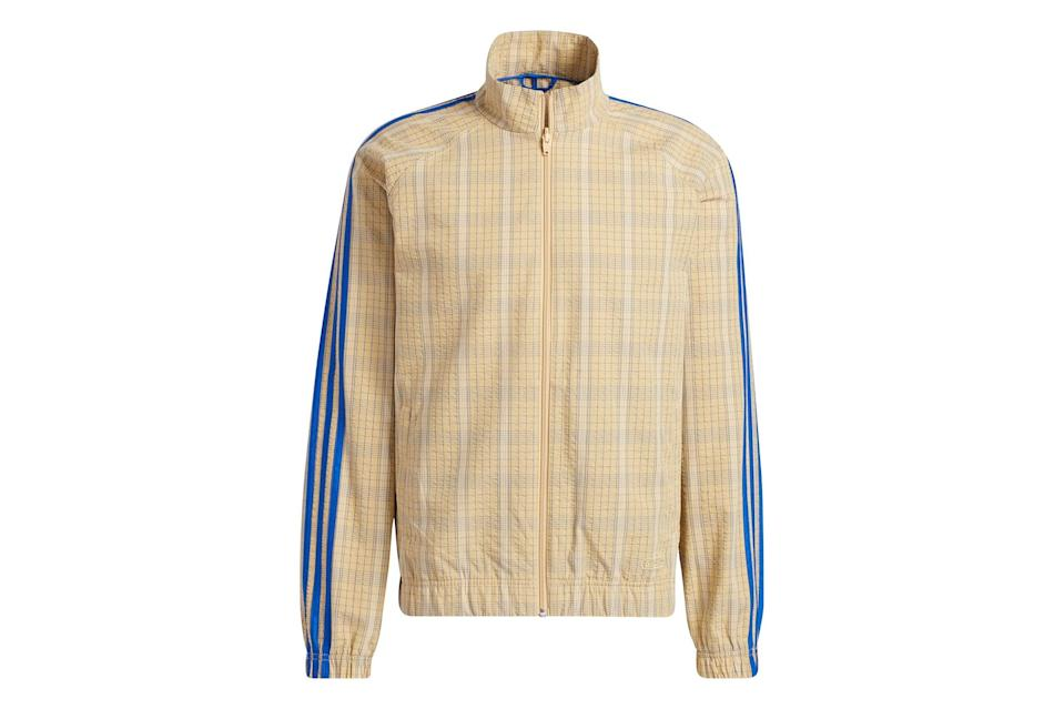 """<p><a href=""""https://www.gq.com/story/the-best-track-suits?mbid=synd_yahoo_rss"""" rel=""""nofollow noopener"""" target=""""_blank"""" data-ylk=""""slk:The track jacket"""" class=""""link rapid-noclick-resp"""">The track jacket</a> is the versatile layer of your lightweight outerwear dreams. (You <em>do</em> dream about lightweight outerwear, right?)</p> <p><em>Adidas SPRT collection MW track jacket</em></p> $100, Adidas. <a href=""""https://www.adidas.com/us/sprt-collection-mw-track-jacket/GN3795.html"""" rel=""""nofollow noopener"""" target=""""_blank"""" data-ylk=""""slk:Get it now!"""" class=""""link rapid-noclick-resp"""">Get it now!</a>"""