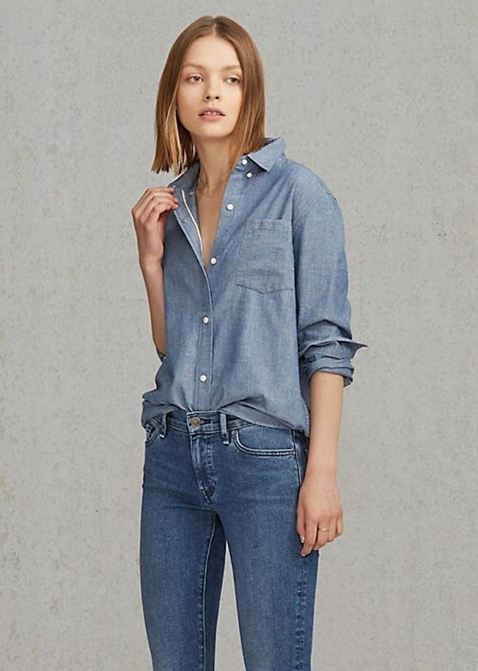"""Levi's Made & Crafted Boy Shirt, $138; at<a rel=""""nofollow"""" href=""""http://www.levi.com/US/en_US/neutral/p/264830000"""" rel=""""""""> Levi's</a>"""