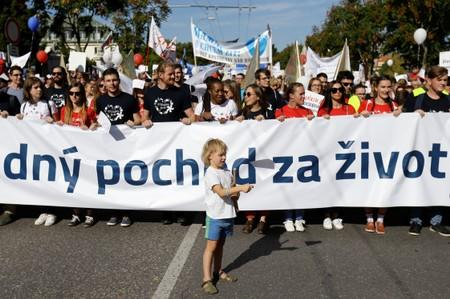 Slovakia's anti-abortion protest takes place in Bratislava