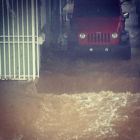 A flooded garage is seen after Hurricane Maria hit Puerto Rico September 20, 2017, in this still image taken from social media.   INSTAGRAM/highasyourdreams/via REUTERS