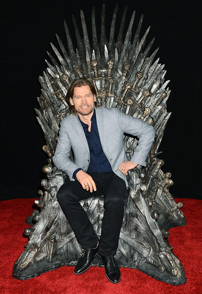 "Nikolaj Coster-Waldau attends The Academy of Television Arts & Sciences'  presentation of An Evening With ""Game of Thrones"" at TCL Chinese Theatre on March 19, 2013 in Hollywood, California."