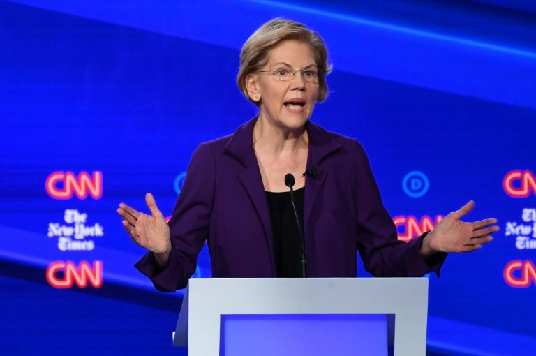 "Elizabeth Warren faced stiff blowback from moderate Democrats who criticized her for declining to come clean on how much her ""Medicare for All"" health plan would cost (AFP Photo/SAUL LOEB)"