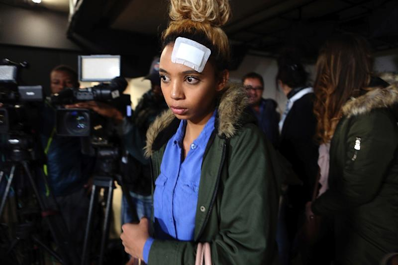 South African model Gabriella Engels has filed assault charges against the Zimbabwe First Lady (AFP Photo/Phill Magakoe)