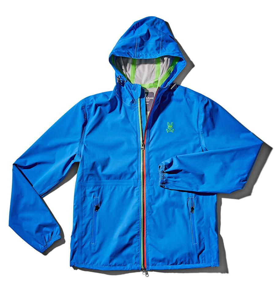 """<p>A packable, wind-and-waterproof jacket that will pop even under the darkest skies. <a href=""""https://www.psychobunny.com/products/mens-aaron-windbreaker-b6n447g1nl-433-marlin"""" rel=""""nofollow""""><em>Available at psychobunny.com</em></a><br> <a href=""""https://shop.nordstrom.com/s/psycho-bunny-aaron-water-repellent-hooded-nylon-windbreaker/5386614/full"""" rel=""""nofollow""""><strong>BUY NOW:</strong> $198</a></p> <p><strong>Related:</strong> <a href=""""https://www.golfdigest.com/gallery/fathers-day-gift-guide-photos?mbid=synd_yahoo_rss"""">Gifts for Golfers: Some great ideas for Dad</a></p>"""