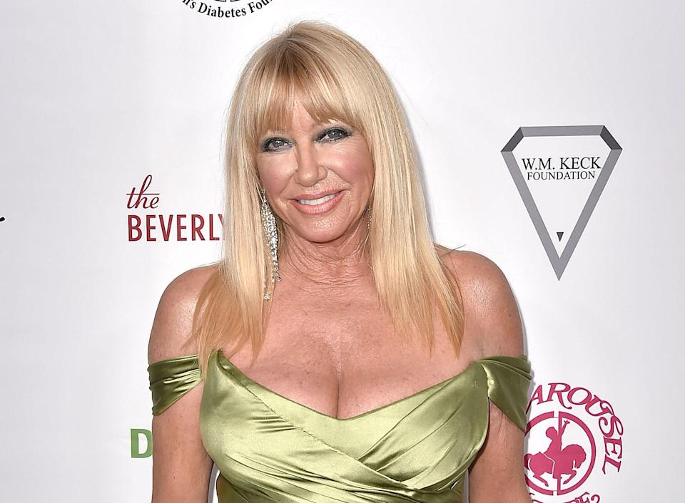 Suzanne Somers at the 2018 Carousel of Hope Ball in Beverly Hills. (Photo: David Crotty/Patrick McMullan via Getty Images)