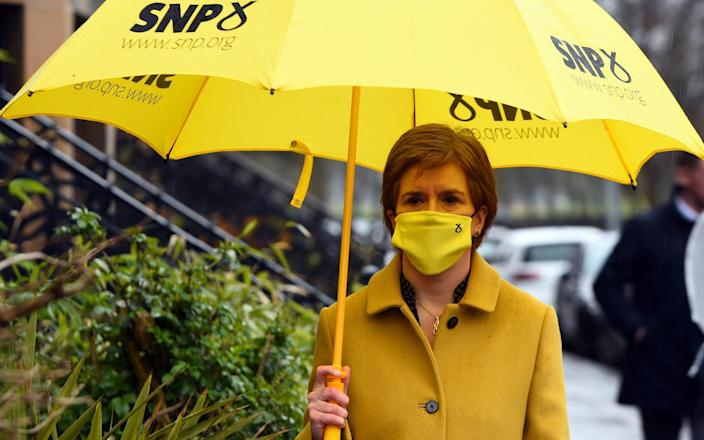 Nicola Sturgeon in her deprived Glasgow Southside constituency - Pool/Getty