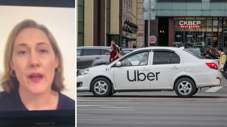 Uber laid off 3,500 employees via Zoom. Source: Daily Mail/Getty