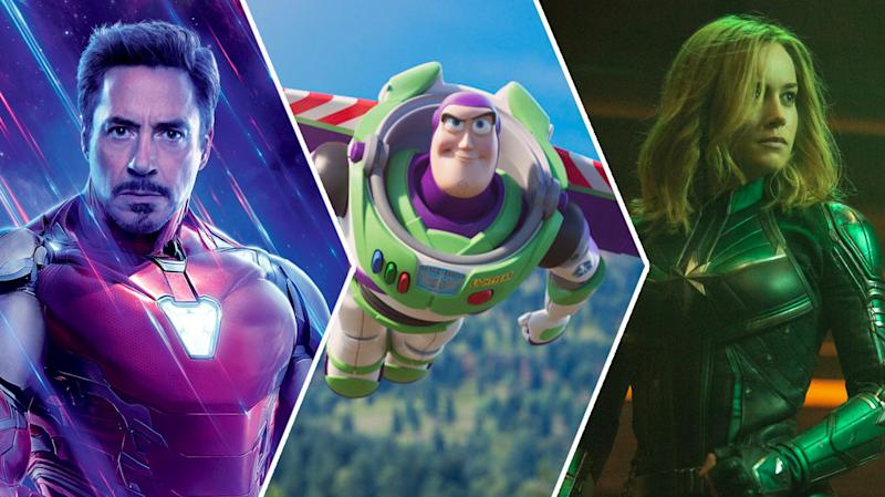 Avengers: Endgame, Toy Story, and Captain Marvel dominate the chart (credit: Disney)