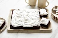 """This chocolate cake's been trending since we featured it in our exploration of <a href=""""https://www.epicurious.com/ingredients/what-is-baking-soda-article?mbid=synd_yahoo_rss"""" rel=""""nofollow noopener"""" target=""""_blank"""" data-ylk=""""slk:baking soda"""" class=""""link rapid-noclick-resp"""">baking soda</a>, but now we also have tips for <a href=""""https://www.epicurious.com/expert-advice/convert-cake-recipe-to-6-inch-cake-article?mbid=synd_yahoo_rss"""" rel=""""nofollow noopener"""" target=""""_blank"""" data-ylk=""""slk:converting it into a 6-inch cake"""" class=""""link rapid-noclick-resp"""">converting it into a 6-inch cake</a> for smaller celebrations. <a href=""""https://www.epicurious.com/recipes/food/views/deep-dark-chocolate-cake-bakewise?mbid=synd_yahoo_rss"""" rel=""""nofollow noopener"""" target=""""_blank"""" data-ylk=""""slk:See recipe."""" class=""""link rapid-noclick-resp"""">See recipe.</a>"""