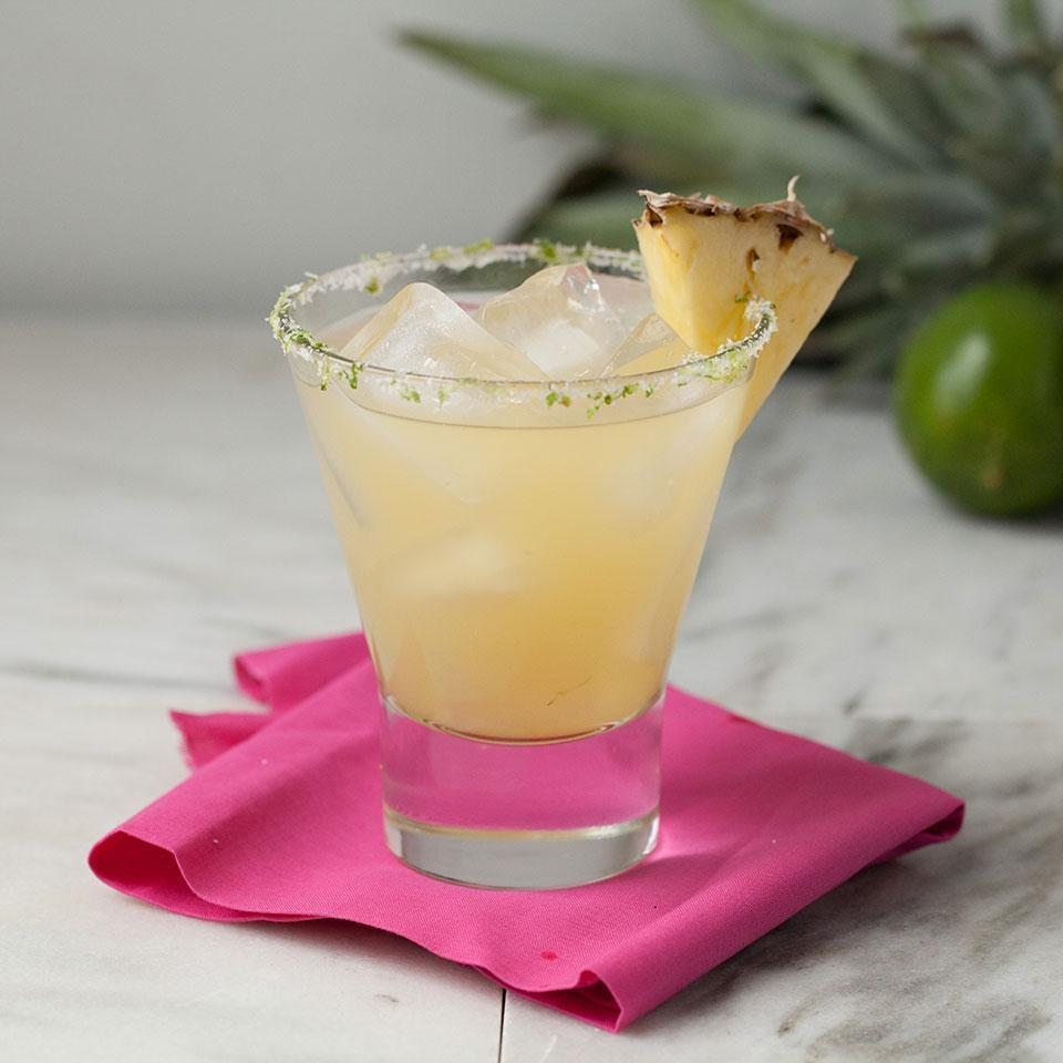 <p>Pineapple juice adds plenty of sweetness to this no-sugar-added margarita recipe.</p>